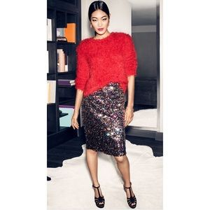 H&M multicolored sequined pencil skirt